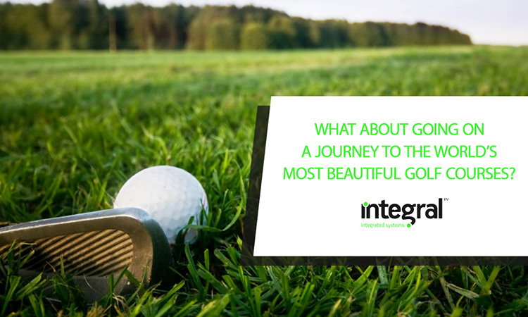 What about going on a journey to the world's most beautiful golf courses?