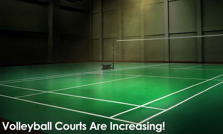 Volleyball Courts Are Increasing!
