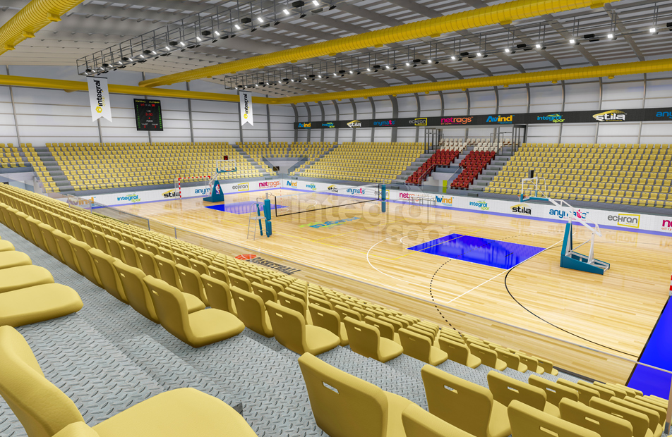 Indoor Sports Halls for 2.000 People