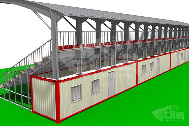 Container model steel tribune