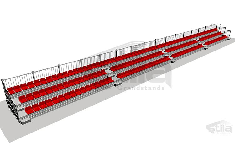 Standard steel tribune