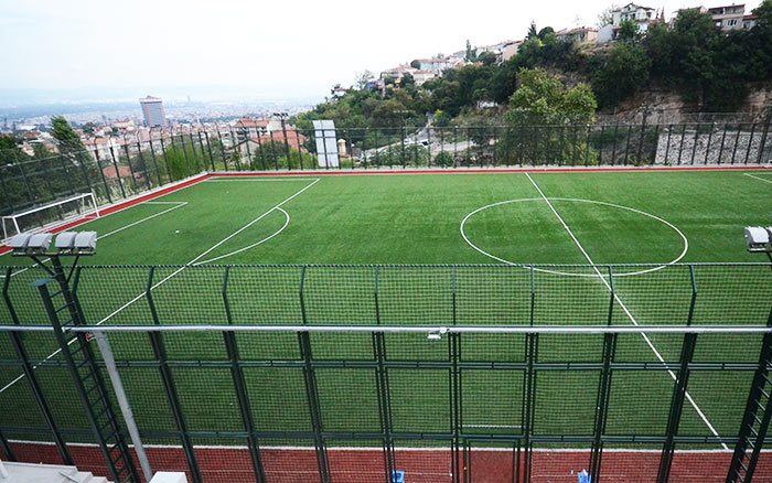 Artificial Turf Football Pitch Construction from Turkey