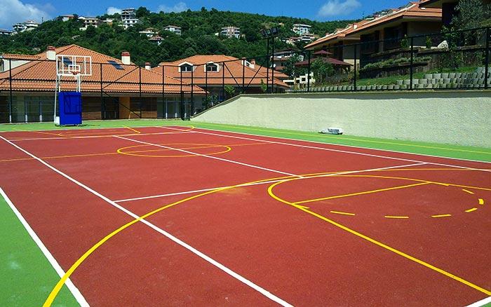 çok amaçlı saha yapımı voleybol tenis baketbol
