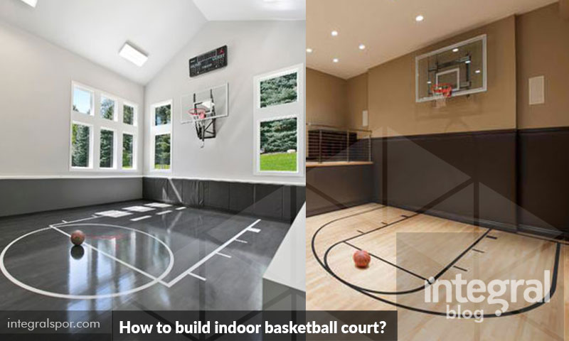 How to build indoor basketball court for gym or garage for Indoor basketball court installation